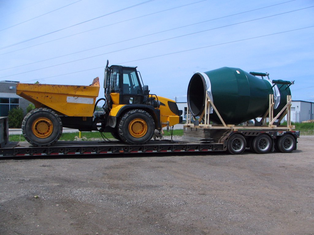 Large Quencher Spark Arrestor Being Delivered
